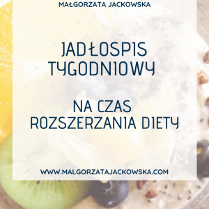 jadłospis dla niemowlaka Małgorzata Jackowska