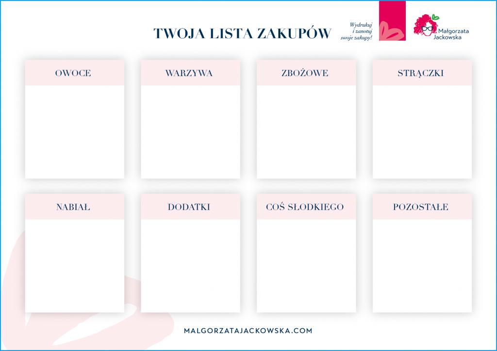 lista zakupów małgorzata jackowska