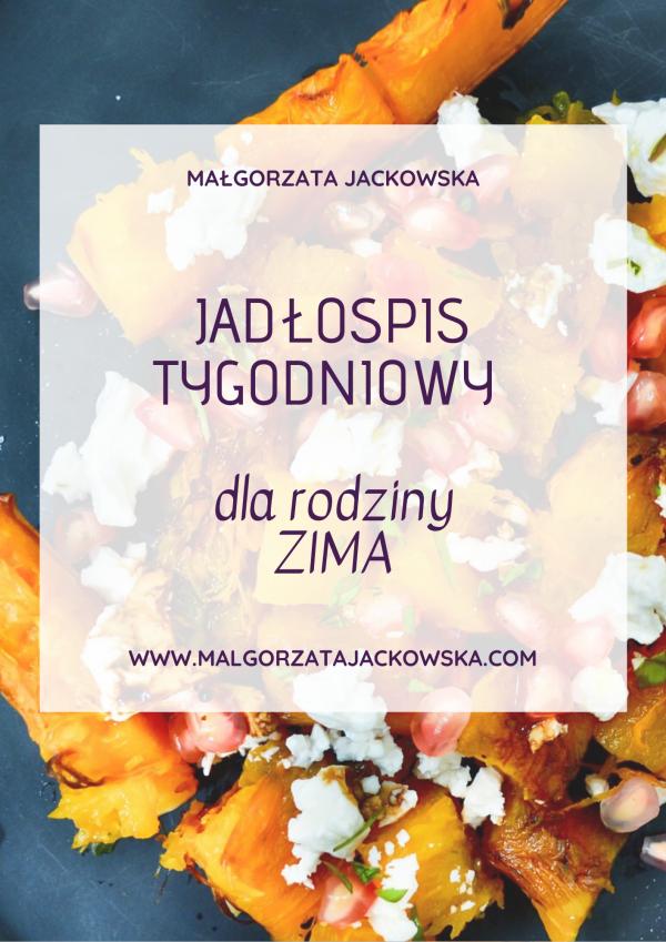 jadłospis rodzinny zima Małgorzata Jackowska