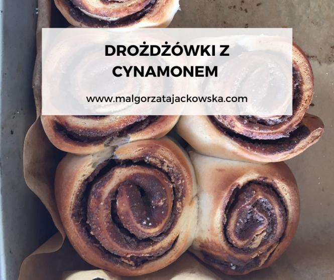 drożdżówki z cynamomen Małgorzata Jackowska