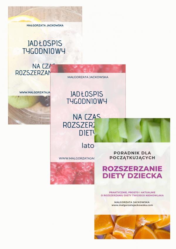 zestaw ebooków na czas rozszerzania diety poradnik + 2 jadłospisy Małgorzata Jackowska sklep