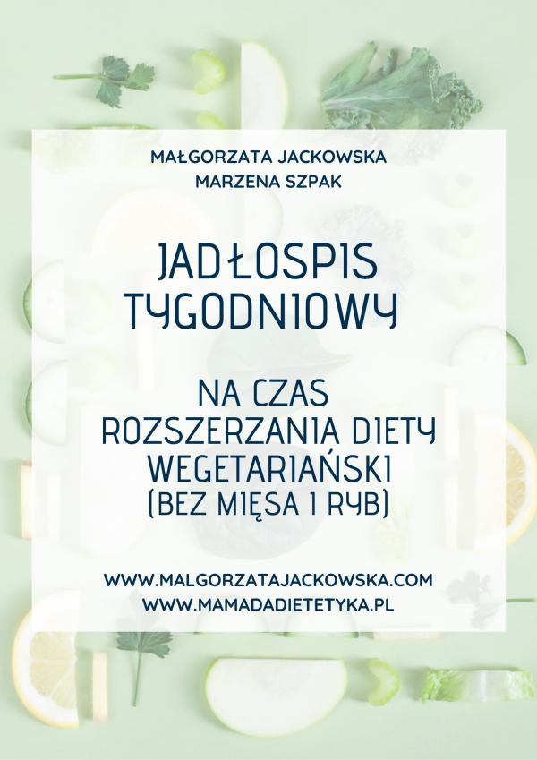 jadłospis dla niemowlaka wegetariański Jackowska i mamada okładka