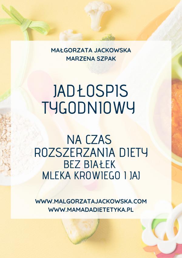 Jadłospis dla niemowlaka bez mlek i jaj Jackowska i Mamada okładka