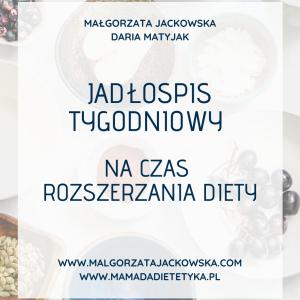 Jadłospis dla niemowlaka Jackowska i Mamada okładka