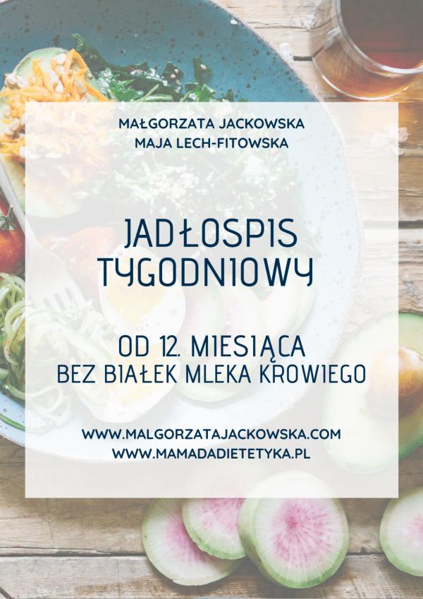 Jadłospis od 12 miesiąca bez mleka Jackowska i Mamada okładka