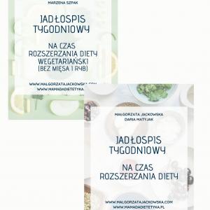 2 jadłospisy dla niemowlaka Jackowska i Mamada okładki