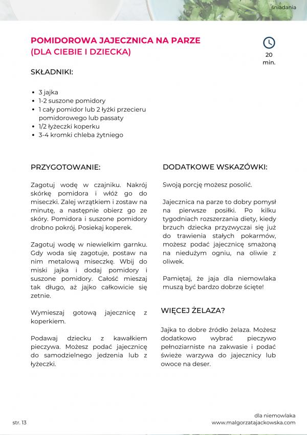 jadłospis dla niemowlaka Mamada i Jackowska