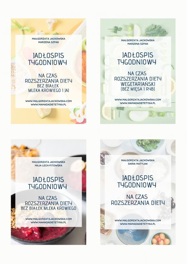 4 jadłospisy na czas rozszerzania diety Jackowska i mamada okładki
