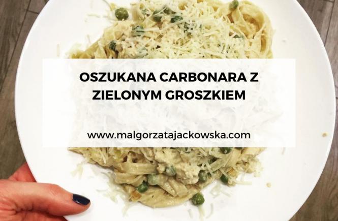 przepis na oszukaną carbonarę z tofu blog Małgorzata Jackowska