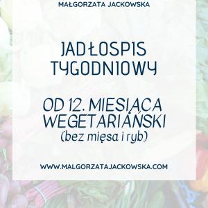 jadłospis wegetariański dla niemowlaka i dla dziecka Małgorzata Jackowska